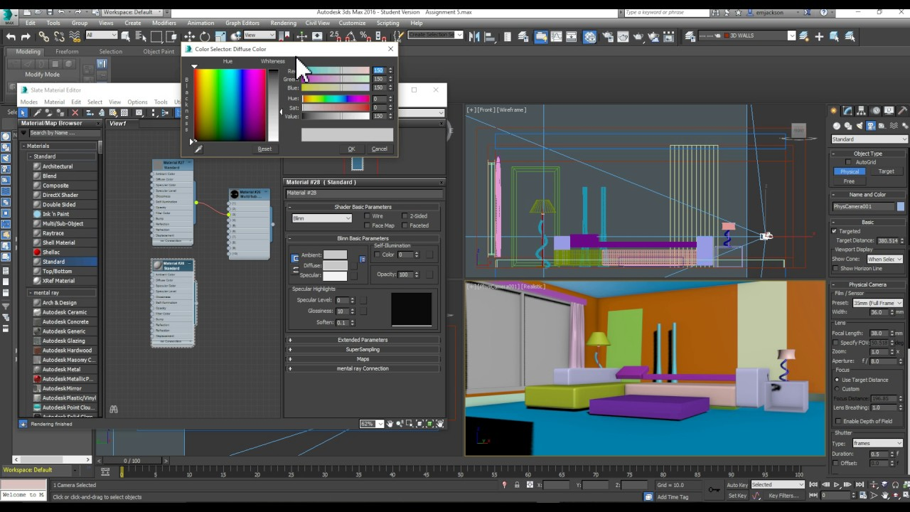 3DS MAX - CAMERA LIGHTING AND RENDERING SETTINGS. DIGITAL SPACE PLACE  sc 1 st  YouTube & 3DS MAX - CAMERA LIGHTING AND RENDERING SETTINGS - YouTube azcodes.com