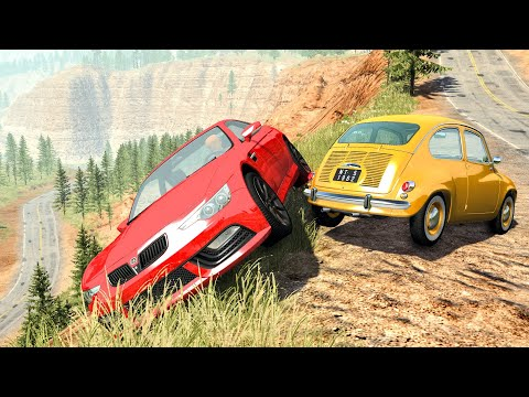 Realistic Cliff Drops #1 - BeamNG Drive Crashes | CrashBoomPunk