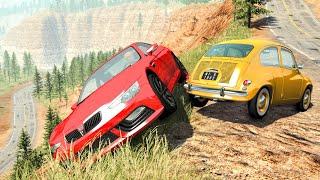 Realistic Cliff Drops #1 - BeamNG Drive Crashes | CrashBoomPunk