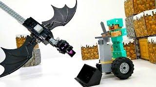 Делаем Сегвей для Стива и призываем Дракона. Игрушки Майнкрафт.