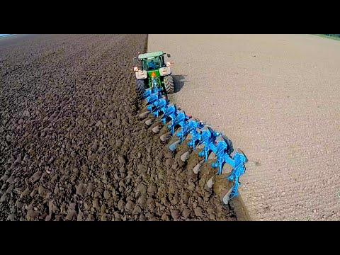 Ploughing John Deere 8360r Furrow Lemken Diamant