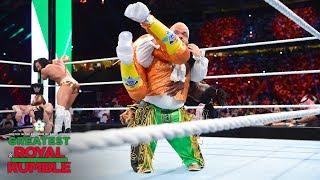 Hornswoggle slams Kofi Kingston with a Samoan Drop: Greatest Royal Rumble (WWE Network Exclusive)