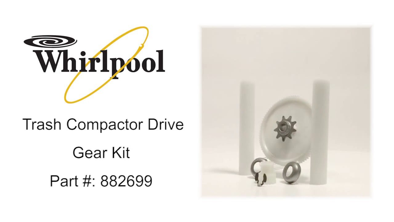 How Does A Trash Compactor Work Whirlpool Trash Compactor Drive Gear Kit Part 882699 Youtube