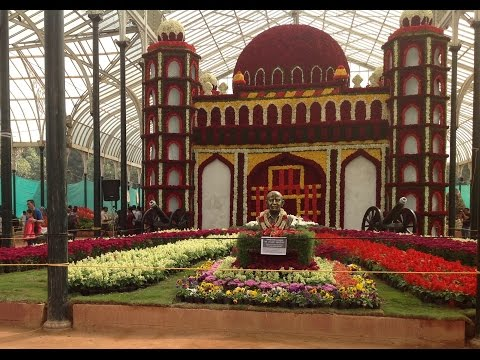 Amazing Bangalore Lal Bagh Republic Day  Flower Show 2017  Full Video  HD