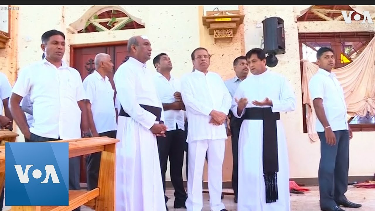 Sri Lanka President Visits Bombed Church Damaged on Easter Sunday