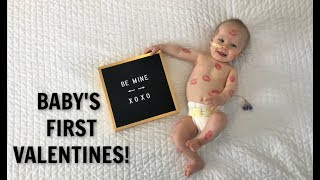 ADORABLE BABY'S FIRST VALENTINES DAY! ❤️