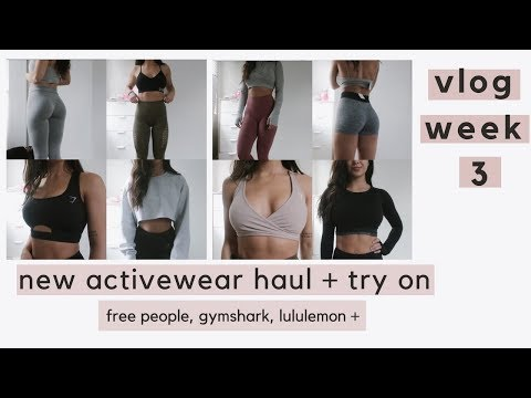 new activewear try on | weekly vlog 3