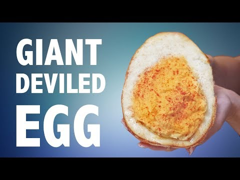 DIY GIANT DEVILED EGG 🥚  (DO NOT EGGTEMPT)