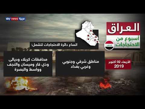 أسبوع على الاحتجاجات الشعبية في العراق راح ضحيته أكثر من 115 قتيلا  - 16:54-2019 / 10 / 8