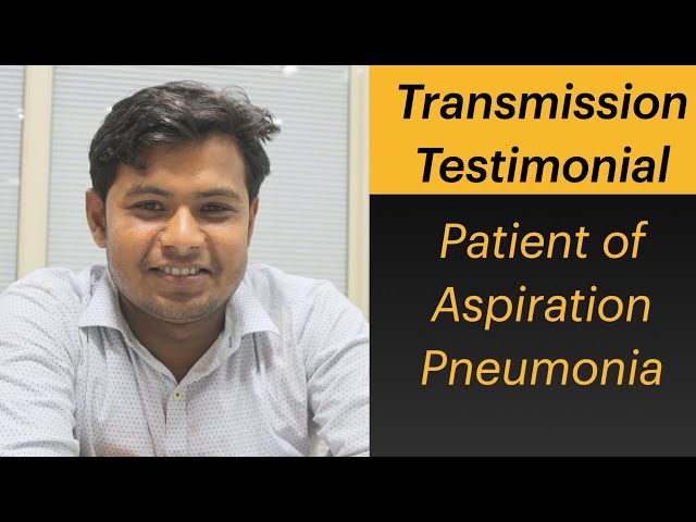 Patient of Aspiration Pneumonia not eating tablet in transmission