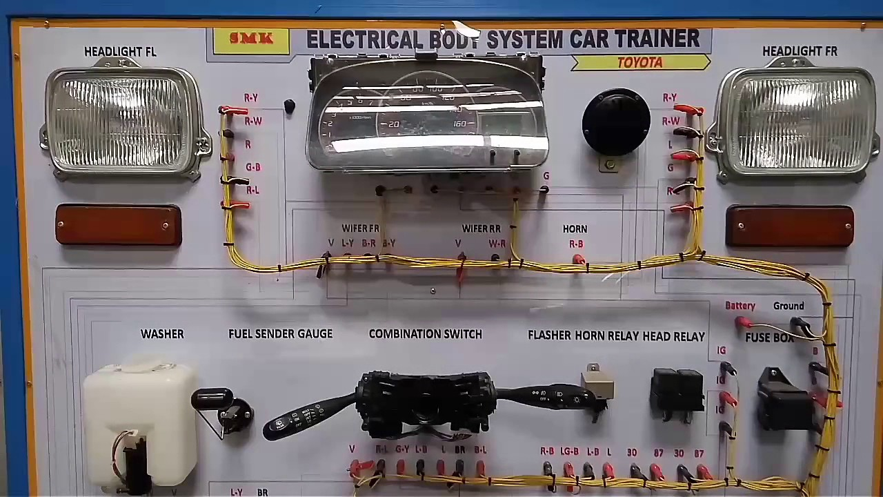 Electrical Body System Car Trainer Simulasi Kelistrikan Mobil