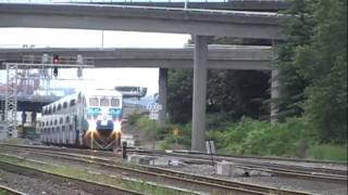 Train Meet - Two SOUNDER Commuter trains