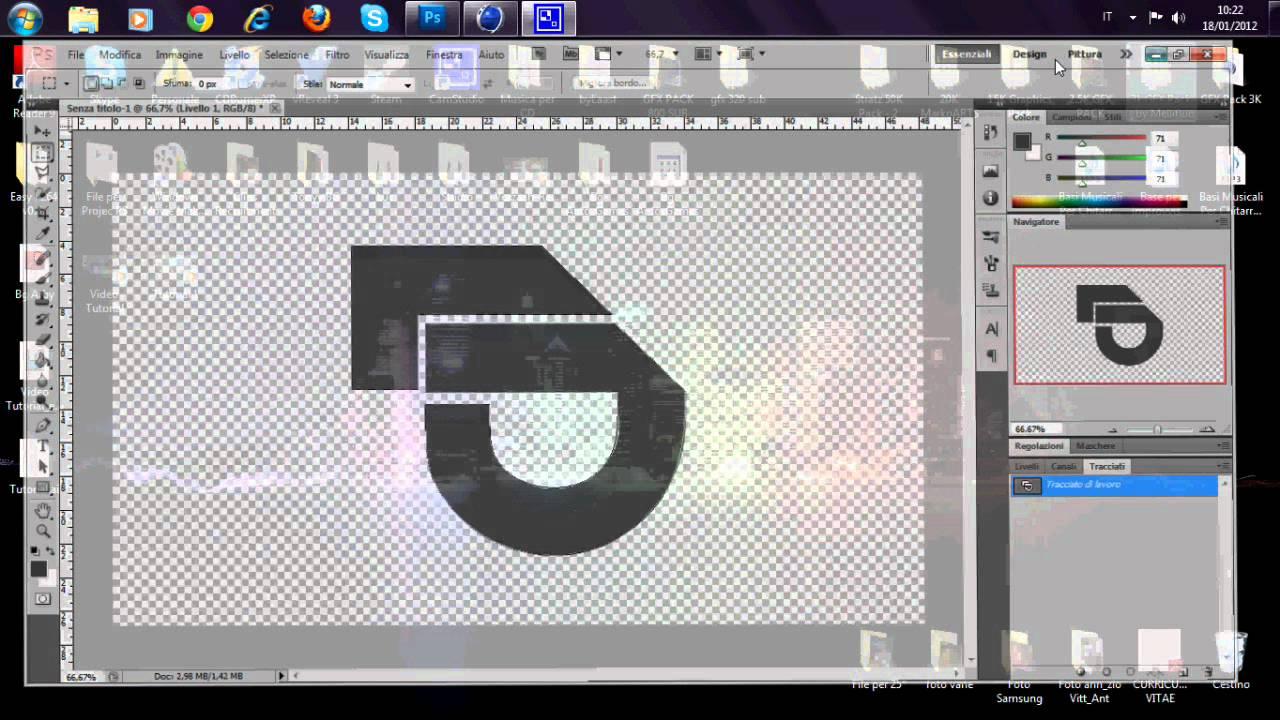 Ben noto Tutorial - Creare logo personalizzato con Photoshop - YouTube EP04
