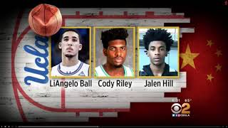 LiAngelo Ball Cody Riley and Jalen Hill caught shoplifting in china