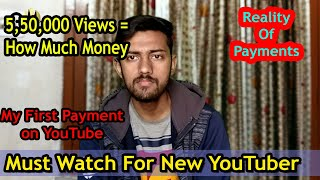 My first income from youtube | How much really for 1000 views | no lies only reality🔥
