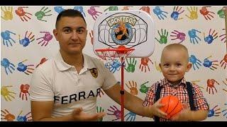 Баскетбольное кольцо на стойке распаковка игрушки видео для детей basketball hoop game unboxing