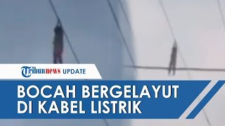 VIRAL Video Bocah Bergelayut di Kabel Kota Tangerang, BPPD Ungkap Kronologi Kejadiannya