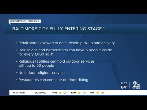 Baltimore City fully entering State 1