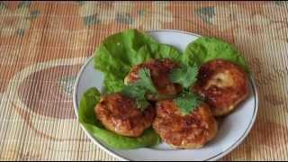 Домашние видео рецепты - куриные котлеты с кабачком в мультиварке