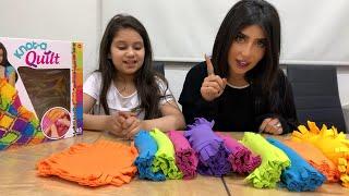 نور وماما ولعبه التركيز بالألوان 😍
