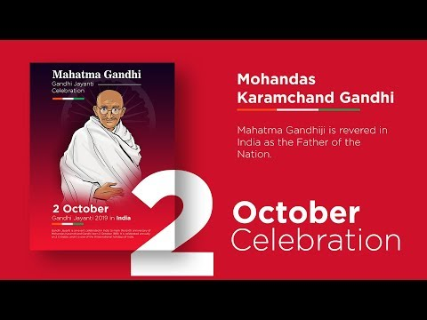 Mahatma Gandhi Celebration In India | How To Design Poster In Adobe Photoshop Cc