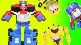 Transformers Magic Surprise Nesting Box Game w/ Optimus Prime and Bumblebee!