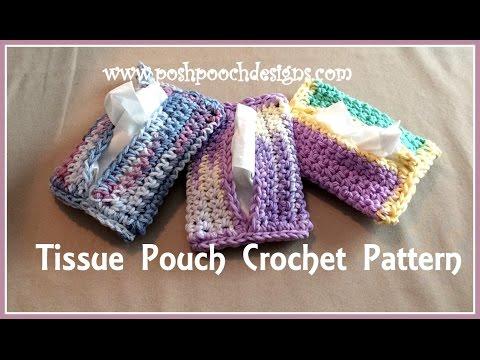 Tissue Pouch Crochet Pattern