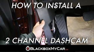 How to Install a 2 Channel Dash Cam (Mazda 6) - BlackboxMyCar