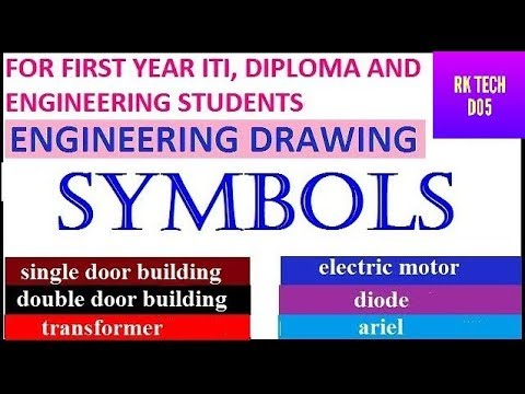 ENGINEERING DRAWING SYMBOLS | DRAWING SYMBOLS
