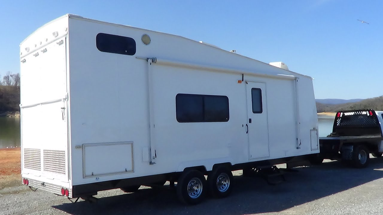 Work And Play Toy Hauler >> 2001 Coachman 28ft Toy Hauler for Sale - YouTube