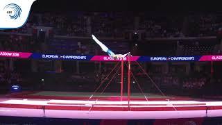 Sergei NAIDIN (RUS) - 2018 Artistic Gymnastics Europeans, junior high bar final