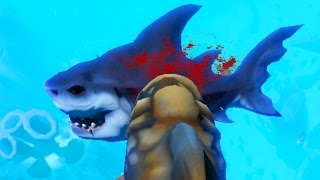 EATING A GIANT SHARK + BIGGEST FISH IN THE SEA! | Feed and Grow Fish