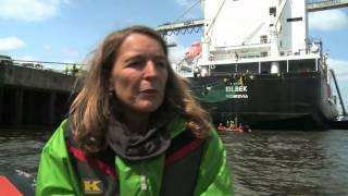 Greenpeace activists stop whale meat shipment