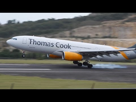 Thomas Cook Smooth Landing in Antigua from Manchester (UK) [HD]