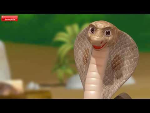 Telugu Rhymes for Children | Snake, Butterfly & Janma Bhoomi | Infobells
