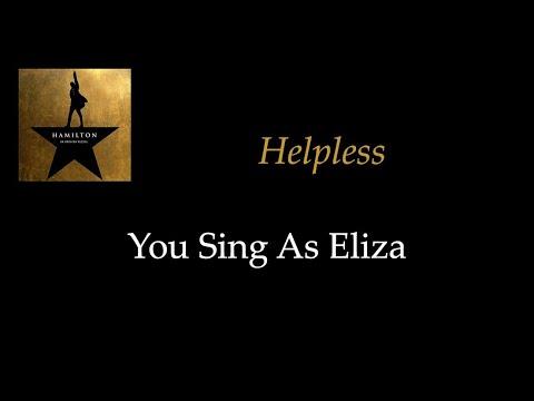 Hamilton - Helpless - Karaoke/Sing With Me: You Sing Eliza