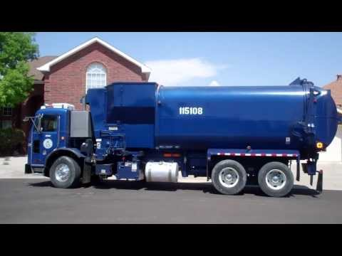 4 Peterbilt Amrep Elliptical Garbage Trucks in one neighborhood - The Last video of Joe Mora
