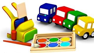 Compilation № 2 de 4 voitures: couleurs, chiffres et jeux