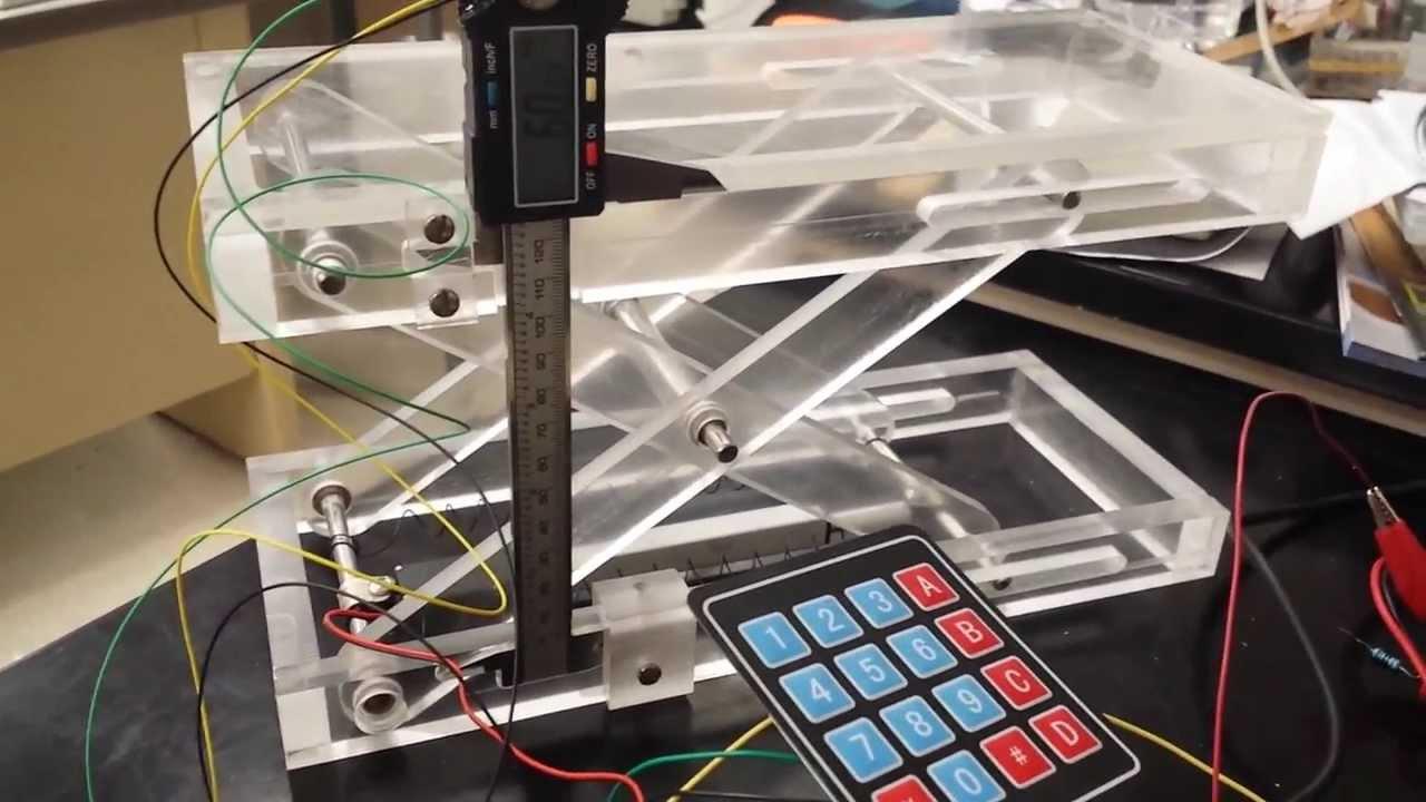 Automatic Height Adjusting Piv Laser Scissor Lift Staging