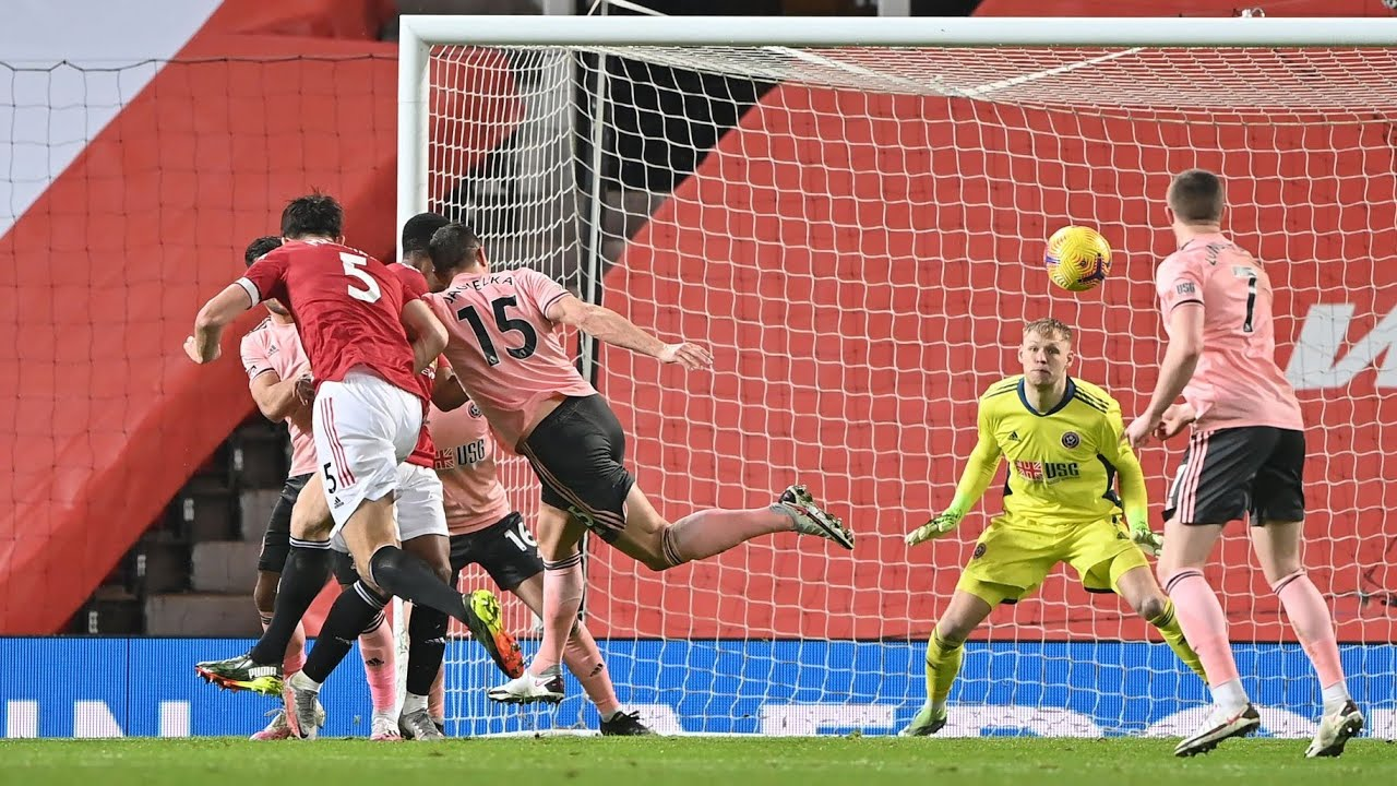 Harry Maguire Goal vs Sheffield United!   Manchester United vs Sheffield  United Live Reactions - YouTube