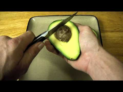 How To Tell When Ripe And Cut Open An Avocado Demonstration Of Cutting And Remove Pit