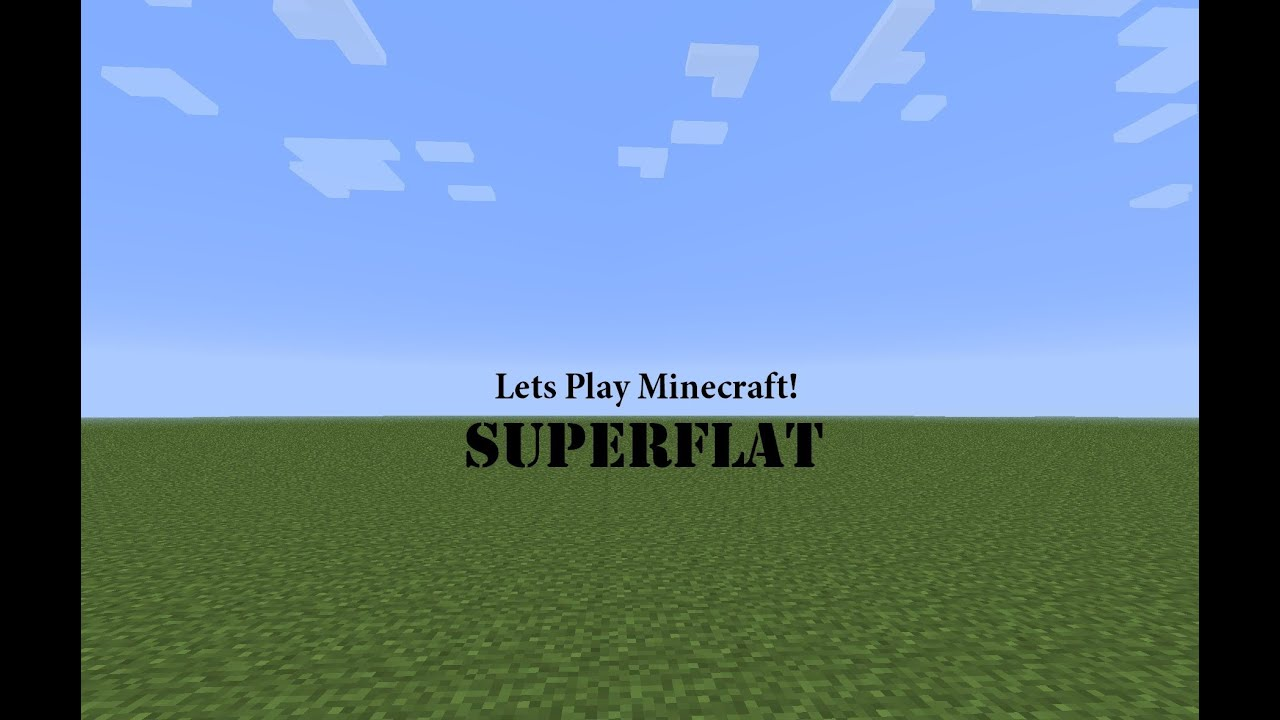 Lets play minecraft flat world survival ep 1 youtube lets play minecraft flat world survival ep 1 gumiabroncs Choice Image