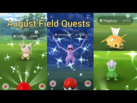 August Field Research Tasks - Shiny Hunting Tasks In Pokemon GO