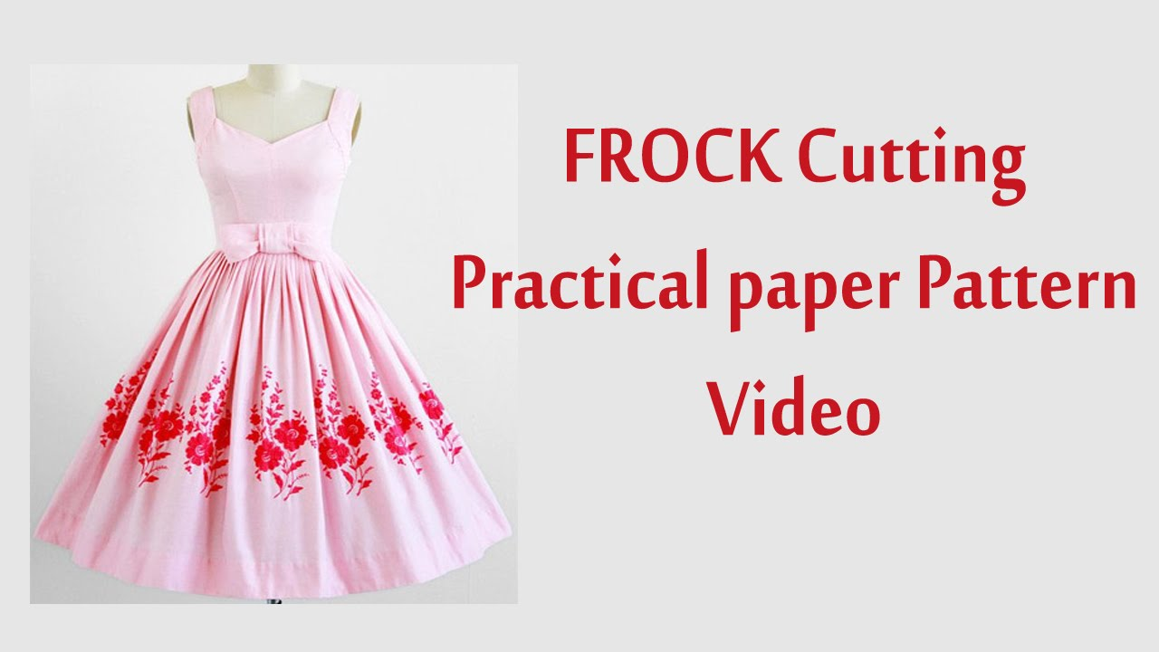 frock cutting and stitching in tamil with paper Pattern - YouTube
