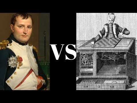 Napoleon Bonaparte Chess Game vs The Turk - The most famous person ever to lose to a machine!