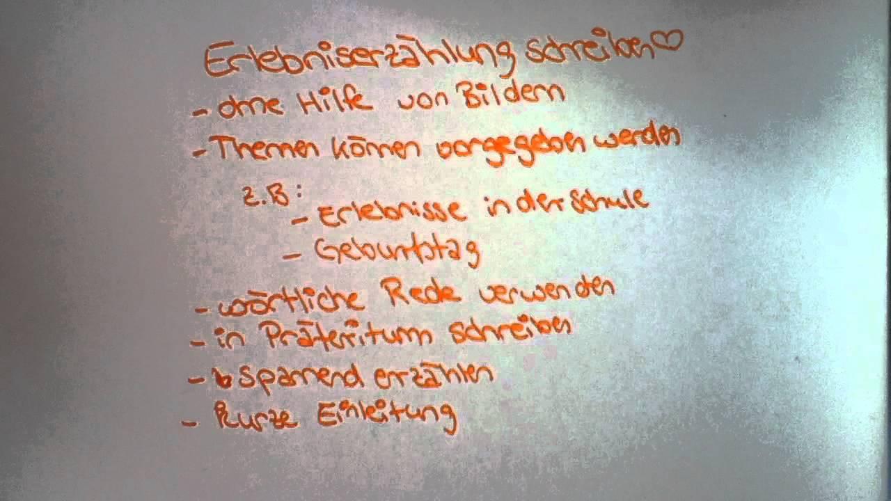 erlebniserzhlung schreiben aufbau und bung fr den unterricht youtube - Erlebniserzahlung 5 Klasse Gymnasium Beispiel