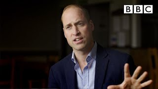 Prince William using football to talk about men's mental health - BBC