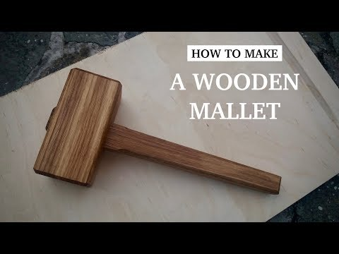 How to make A Wooden Mallet (from oak) // Woodworking // My Cellar Workshop