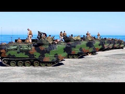 US Marines Amtracks Raid The Philippine Beach