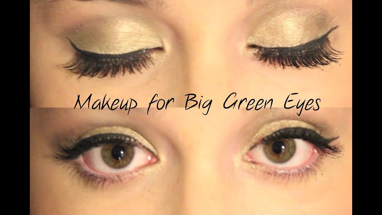 how to put eye makeup on big eyes